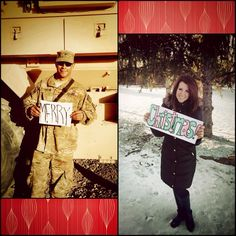Our 2013 deployment Christmas card :) Happy to think next year he will be HOME Usmc Love, Military Love, Airforce Wife, Marines Girlfriend, Christmas Pictures, Christmas Cards, Christmas Stuff, Honor Courage Commitment, Military Crafts