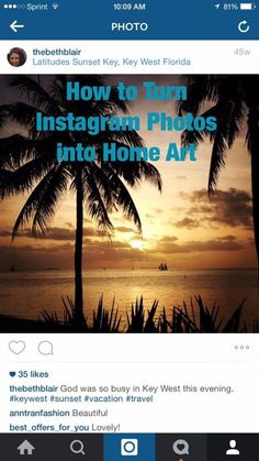 How to Turn Instagram Photos into Art
