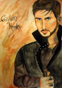 Captain Hook OUAT water colors