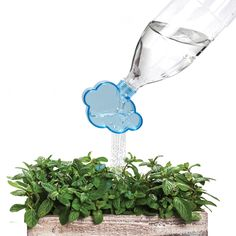 Who needs a watering can when you can take an old plastic soda bottle and attach the Rainmaker to it to water plants? Curated by your friends at  https://createamixer.com/