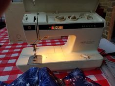 Singer Creative Touch! Love this sewing machine! Thanks to Mom for keeping & passing down to me!