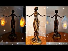 Recycled Crafts, Diy Crafts, People Figures, Wood Sticks, Diy Home Decor Projects, Statue, Diy Clay, Craft Videos, Adhesive Vinyl