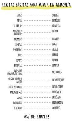 Imperativo en español: reglas-para-vivir-en-armonia