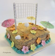 Beachvolleyball Torte