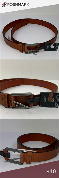 NWT New Ted Baker Reversible Tan /& Dark Brown 2-sided Men's Leather Belt Sz 32