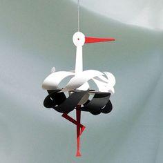 My design inspiration: Stork Mobile on Fab. Origami Paper, Diy Paper, Paper Art, Paper Crafts, Diy And Crafts, Crafts For Kids, Arts And Crafts, Card Making Templates, Paper Birds