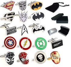 #Silver #superhero novelty wedding gift prom cufflinks ironman batman - uk #selle, View more on the LINK: http://www.zeppy.io/product/gb/2/111177360141/