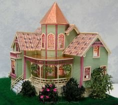144th Scale Handcrafted Beaumont Mansion Dollhouse at Norman's Country Creek