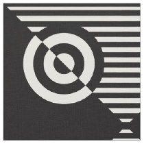 Graphic visual stimulation black and white fabric