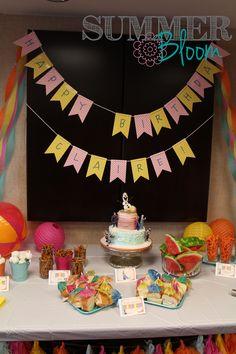 "Summer Bloom: Teach. Create. Party: Frozen ""In Summer"" Birthday Party"