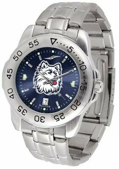 Connecticut Huskies Sport AnoChrome Steel Band Men's Watch by SunTime. $56.95. Buy Connecticut Huskies Sport AnoChrome Steel Band Men's Watch now for only $56.95 and save! Visit Sports Unlimited for more from our Sports Accessories selection and get free shipping on most orders over $99. Need help? We have world class customer support waiting to answer your questions.