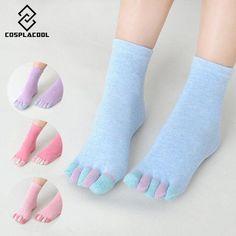 f7d36072808 Women socks deporte Cotton girl five fingers socks Massage gimnasio Non  Slip grip female Toe Socks