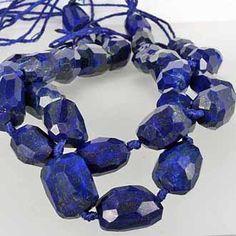 Royal Blue Lapis Lazuli Beads - Afghanistan