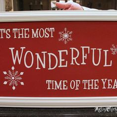 DIY Holiday Sign {Pottery Barn Inspired} Easy