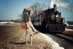 Gray cardigan, tan bag, beret, and cute dress -The Pretty Blog