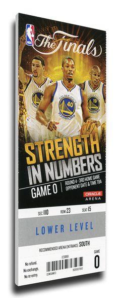 2015 NBA Finals Game 5 Canvas Mega Ticket - Golden State Warriors