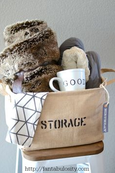 """Take it Easy,"" Relaxation Gift Basket Idea http://fantabulosity.com"