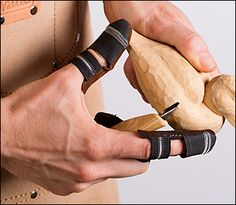 Leather Thumb & Finger Guards - Lee Valley Tools