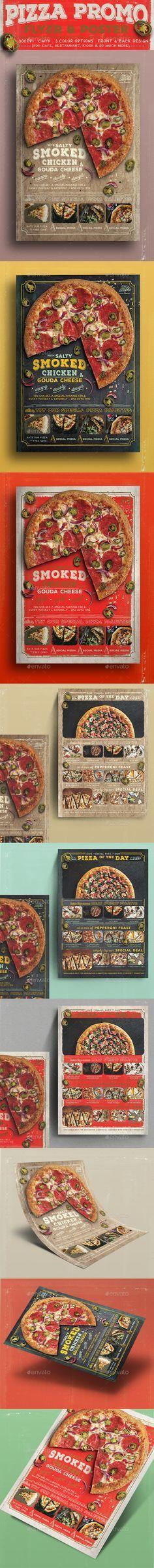 Mejores 21 imágenes de Best Pizza Restaurant Flyer PSD Templates en ...