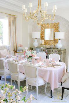 Blush Table for Easter or Spring - Randi Garrett Design