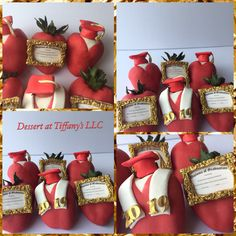 🍓STRAWBERRIES🍓 By  Strawberry Dip, Strawberry Desserts, Strawberry Ideas, Chocolate Covered Treats, Chocolate Dipped Strawberries, Chocolate Hearts, Sugar Free Chocolate, Graduation Cupcake Toppers, Graduation Theme