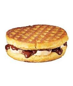 Chocolate and Banana Waffle Panini