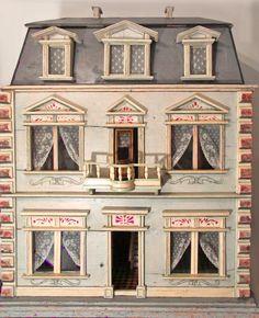 A Christian Hacker doll house, built around 1875.  Rick Maccione-Dollhouse Builder www.dollhousemansions.com