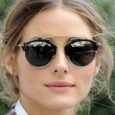 Snapped: Aviator this spring. Try a cool and unexpected shape, like the ones I am wearing from Dior.