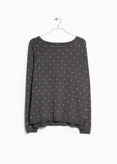Embossed polka-dot sweater