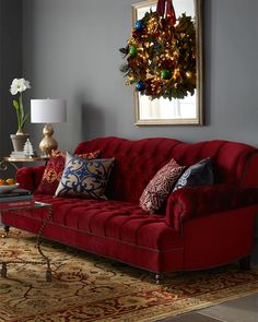 Haute House Mr. Smith Cranberry Sofa. That sofa is so yummy