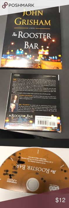 """John Grisham """"The Rooster Bar"""" on CD Perfect for those long road trips! Other"""