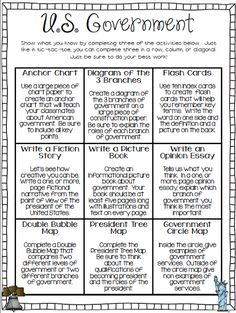 Grab a FREE United States government choice board with this blog post! It includes many great activities for teaching government!
