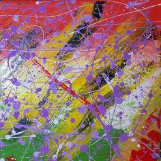 Purple rain part two 30x30cm #acrylic #canvas #painting # purple # colours