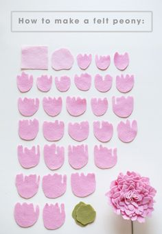 All the petals you'll need to make a felt peony!