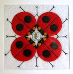 Charley Harper ladybugs in felt by Feed Dog, via Flickr (lots of inspiration)