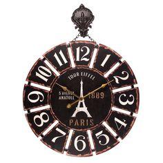 Ρολόι Τοίχου Tour Eiffel,  Τιμή: €36,90 , http://www.lovedeco.gr/p.Roloi-Toichou-Tour-Eiffel.805620.html