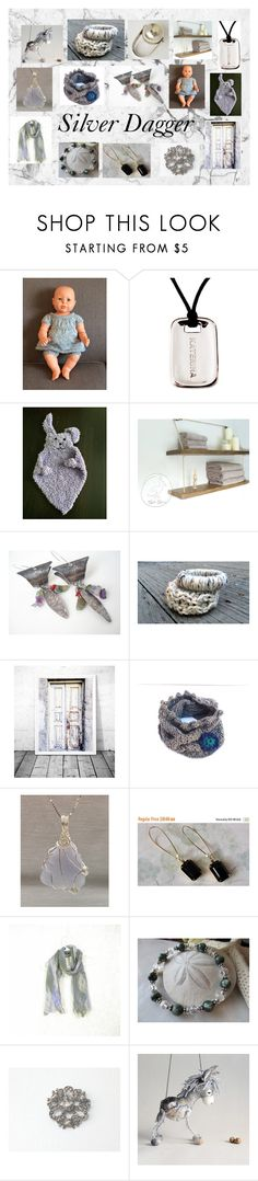 """""""Silver Dagger: Vintage & Handmade Gifts"""" by paulinemcewen ❤ liked on Polyvore featuring Natural Blue, Anello, rustic and vintage"""