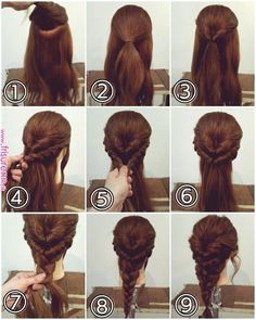 Super Easy and Fabulous Inverted Braid Hairstyle Easy Hairstyles For Long Hair, Girl Hairstyles, Easy Wedding Hairstyles, Simple Hairstyles For Long Hair, Waitress Hairstyles, Frozen Hairstyles, Disney Hairstyles, Short Hair, Hairstyles Games