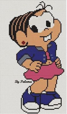 Cute Stitch, Cute Cross Stitch, Disney Mickey, Mickey Mouse, Disney Cross Stitch Patterns, Plastic Canvas Patterns, Betty Boop, Baby Patterns, Pixel Art