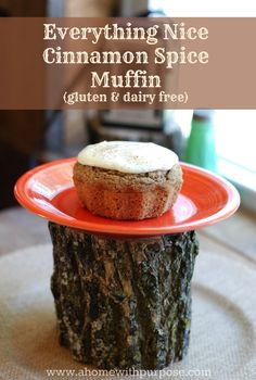 Autumn in a Muffin!  Gluten, Dairy and Sugar Free but packed with flavor! This is a THM-Fuel Pull.  I give ideas or those wanting an E or S recipe as well.