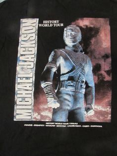 Michael Jackson HIStory World Tour 1996-97 Black T-Shirt Size X Large Moscow | eBay