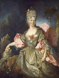 Femme avec un chien et un singe, c. 1705,