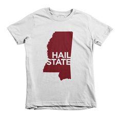 Hail State Short Sleeve Kids T-shirt