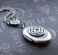 Oval Scent Locket - Enchanted Celtic Knot Necklace - By TheEnchantedLocket $27