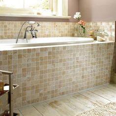 Wickes Tumbled Travertine Mosaic Tile 305 x 305mm | Wickes.co.uk