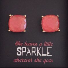 Large Coral Sparkle Stud Earrings Beautiful Large Sparkle Gumdrop Stud Earrings in a pretty Coral color with glitter set in the resin stones. Gives an iridescent look. Approximate size of a dime or penny. New. No Trades. Price firm unless bundled. All sales final. Ask questions prior to purchasing. I want happy customers! Thanks for visiting & Happy Poshing! Boutique Jewelry Earrings