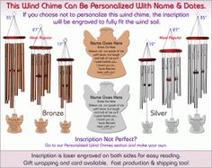 Grieve Not - Angel - Memorial Wind Chimes  Sale Price: $59.95 Compared at: $79.94 You Save: $19.99 Weight: 1.00 lbs