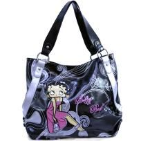 """FREE SHIPPING WITHIN THE CONTINENTAL USA  - Betty Boop® officially licensed - Soft Body PVC material - Dual shoulder straps 10"""" drop length - Top zippered main compartment - Inside zippered center compartment - Lined interior with zippered pocket a..."""