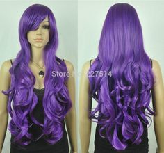 Free shipping, $36.52/Piece:buy wholesale  COS.MXJ01426W >Dark Purple Long Wavy Cosplay WigKanekalon,g,Small,Medium,Large on soler2's Store from DHgate.com, get worldwide delivery and buyer protection service.