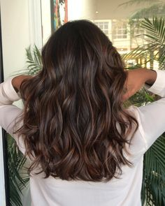 Top 100 hair color trends for 2019 brunette page 52 Brown Hair Balayage, Ombre Hair, Ashy Balayage, Brown Hair With Lowlights, Balayage For Asian Hair, Brunette Highlights Lowlights, Babylights Brunette, Hair Bayalage, Balayage Straight